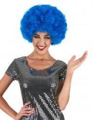 Parrucca riccia blu voluminosa adulto