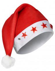 Berretto luminoso bianco e rosso da Babbo Natale