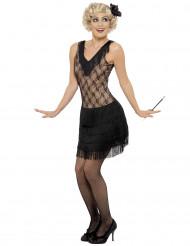 Costume charleston nero da donna