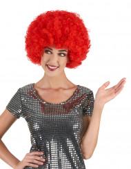 Parrucca riccia rossa voluminosa adulto