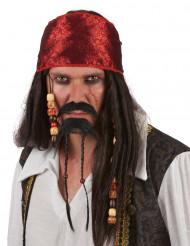 Pizzetto e baffo da pirata adulto