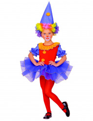Costume da clown colorato per bambina