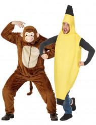 Costume coppia scimmia e banana per adulto
