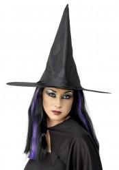 Cappello strega a punta nero Halloween