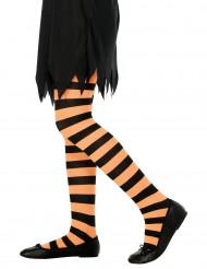 Collant a righe di colore nero e arancione per bambino