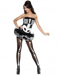 Costume da scheletro per donna sexy Halloween