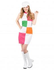 Costume disco a quadri colorati da donna