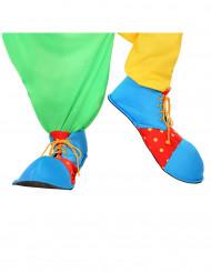Scarpe da clown colorate per adulti