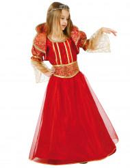 Costume medievale rosso per bambina