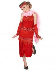 Costume rosso stile charleston per bambina