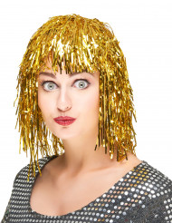 Parrucca color oro metallizzato per adulto