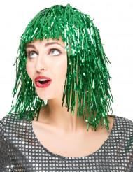 Parrucca verde metallizzato per donna