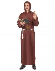 Costume marrone da monaco adulto