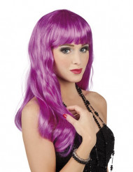 Parrucca viola lunga da donna