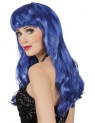 Parrucca lunga blu per donna