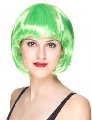 Parricca caschetto verde fluo per donna