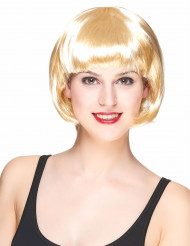 Parrucca corta bionda da donna