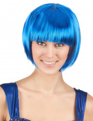 Parrucca caschetto corto blu da donna