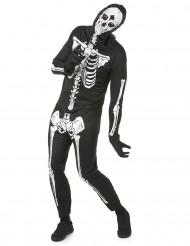 Costume scheletro Halloween uomo