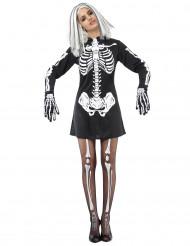 Costume scheletro da donna Halloween
