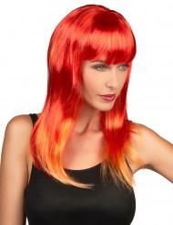Parrucca lunga capelli rossi da donna