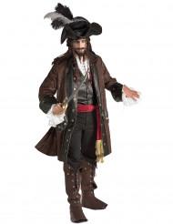 Costume pirata dei caraibi per uomo deluxe