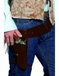 Cinturone da bandito del Far West per adulto