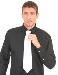 Cravatta bianca da uomo stile gangster