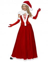 Costume lungo da Babbo Natale per donna