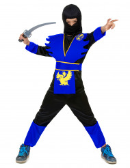Costume da ninja nero e blu per bambino