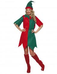 Costume da elfo natalizio per donna