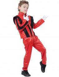 Costume da pop star rosso per bambino