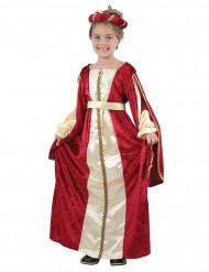 Costume medievale da regina bambina
