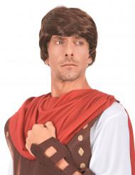 Parrucca castana da soldato romano per adulto