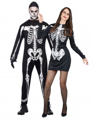 Costume coppia di scheletri per Halloween