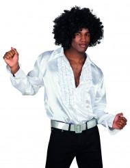 Camicia stile disco bianca da uomo