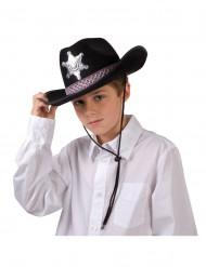 Cappello da sceriffo nero per bambino