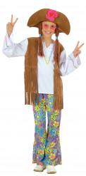 Costume hippie con fiori per bambina