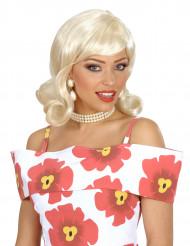 Parrucca bionda anni '50 da donna
