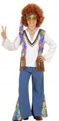 Costume hippie blu per bambino