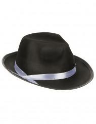 Cappello da gangster nero per adulto