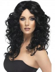 Parrucca riccia nera da donna