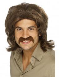 Parrucca marrone anni '70 da uomo