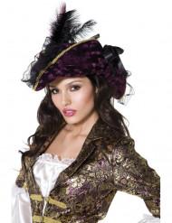 Cappello viola da pirata per donna