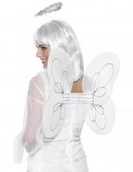 Ali bianche e cerchietto da angelo per adulto
