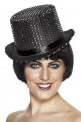 Cappello nero con paillettes