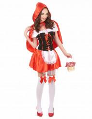 Costume da cappuccetto rosso da donna