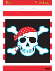 8 sacchetti pirati con teschi