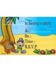 8 inviti di compleanno tema pirati sull'isola