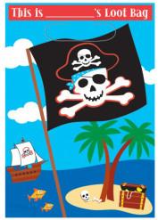 8 sacchetti tema pirata per bambini
